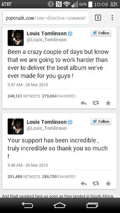 Oh my gosh lou tweeted this today! 3/26/15