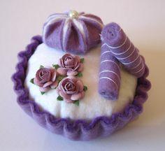 Felt cake purple