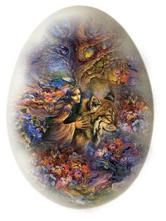 """Josephine Wall style egg"" by sue-wilson1967 ❤ liked on Polyvore featuring art"