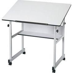 WorkMaster FourPost Drafting Table With White Base