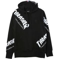 36b4626c906 The HUF X Thrasher TDS Hoodie is a black pullover hoodie. Made of cotton