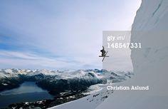 Stock Photo : Downhill skiing at Stranda.