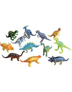 Lot 12 Assorted 6 Jurassic Prehistoric Dinosaur PVC Figurines Decorations @ niftywarehouse.com