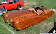 Showcasing cool cars from around the world including concept cars, fast cars, funny and bizarre cars and cool modified cars. Us Cars, Sport Cars, Wood Car, 3d Cnc, Roadster, Mg Midget, Weird Cars, Crazy Cars, Strange Cars