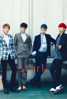 BEAST's Yang Yo Seob, Yoon Doo Joon, Lee Ki Kwang and Jang Hyun Seung @Star1 Korea Magazine Vol.6 September 2012