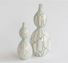 trellis double bulb vase