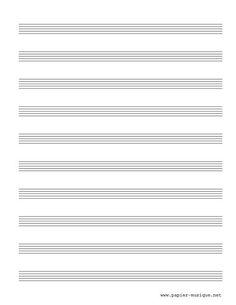 10  Portées musicales vierges (PS-10)