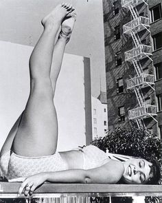 Yvonne Craig was a ballerina before she became an actress, and she certainly had a good set of wheels.