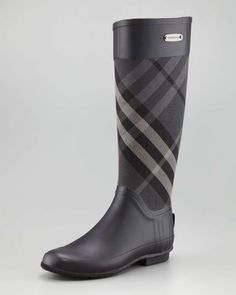 Burberry Mixed Media Rain Boot, Charcoal #Wantering: The Social Web Search Service for Fashionistas