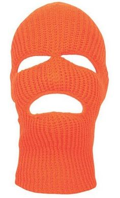 Acrylic Face Masks Orange Three Hole Mask - ArmyNavyShop.com Balaclava b273a4cf49a