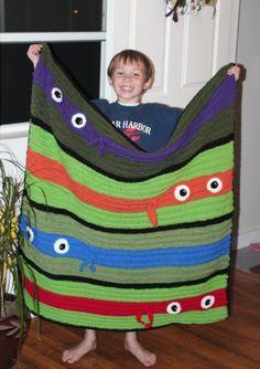 Image result for teenage mutant ninja turtles crochet blanket pattern