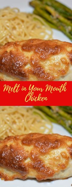 Melt in Your Mouth Chicken Turkey Recipes, Chicken Recipes, Dinner Recipes, Chicken Ideas, Baked Chicken, Meat Recipes, Recipies, Food Dishes, Main Dishes