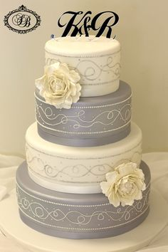 grey and white piping