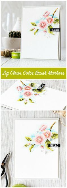 Video of how I like to use Zig Clean Color Brush Markers to watercolor a flower image. Find out more by clicking the following link: http://limedoodledesign.com/2015/08/video-zig-clea…-brush-markers/