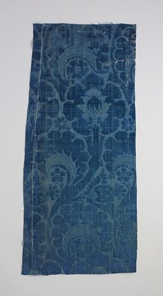 Italian Velvet, first half 15th c., silk MET