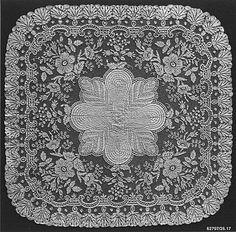 mid 19th Century, Belgian (Ghent), Bobbin Lace Handkerchief