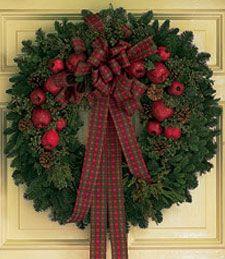 Fresh Wreath w/ Apples
