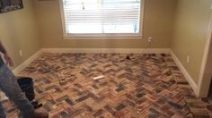 Dining room!!!   Love my brick pavers. Walls were also repainted a light gray color.