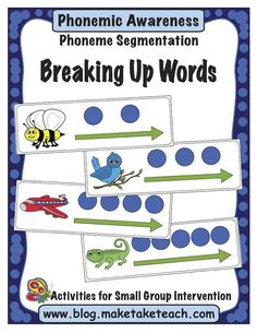 Phonemic awareness- the ability to hear and manipulate the sounds in spoken words and the understanding that spoken words are made up of sequences of speech sounds (Yopp, 1992) The best predictor of reading difficulty in kindergarten or first grade is the inability to segment words and syllabes into constituent sound units (Lyon, 1995) …