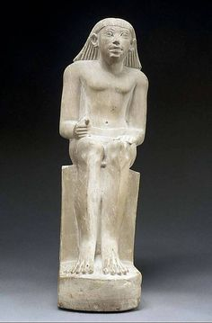 Statue of Idi -Period: Old Kingdom Dynasty: Dynasty 6 Date: ca. 2200 B.C. Geography: Country of Origin Egypt, Northern Upper Egypt, Abydos (Umm el-Qaab, Tell el-Manshiya, others) Medium: Limestone