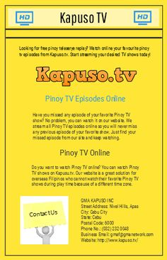 You can watch Pinoy TV shows replay from our website whenever you want. We stream replays of all TV shows on GMA and GMA News channel.