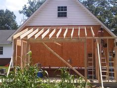 Cabin additions log cabin addition add it on for Lean to garage addition