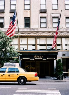 The Carlyle Hotel  ~ be sure to see the charming murals at Bemelman's Bar, great intimate atmoshpere