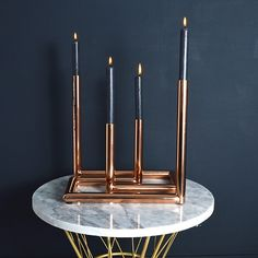 Copper Double Candle Holder