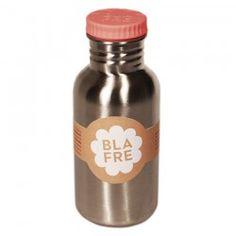 Blafre Edelstahl Trinkflasche Deckel rosa 500 ml