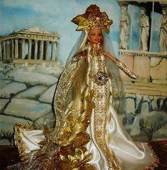 Demeter ~ Greek Goddess of the Harvest ~ Barbie doll OOAK Mythology Greece