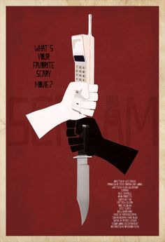 Scream and some other cool minimal designed movie posters... I really want a Scream poster. That's pretty sweet.