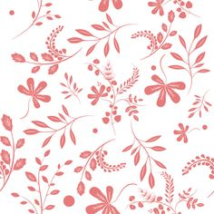 Red Fronds Shelf Paper & Drawer Liner - Chic Shelf Paper