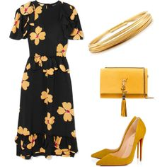 Untitled #5 by normaaulfaah on Polyvore featuring Simone Rocha, Christian Louboutin, Yves Saint Laurent and Tiffany & Co.