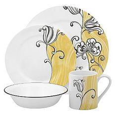 floral Corelle dinnerware