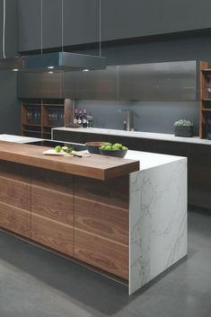 Kochinsel Kücheninsel M Kitchen Room Design, Home Decor Kitchen, Kitchen Layout, Interior Design Kitchen, Kitchen Ideas, Apartment Kitchen, Kitchen Designs, Modern Kitchen Island, Modern Kitchen Cabinets
