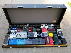 Joab's Spaceship Pedalboard. This has got to be one of the largest guitar pedal boards I've ever seen!