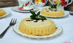 Tartaletas de bizcocho de calabaza y chocolate blanco (al microondas)