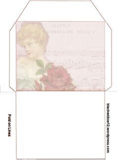 4 Christmas Gift Box Envelope Pink