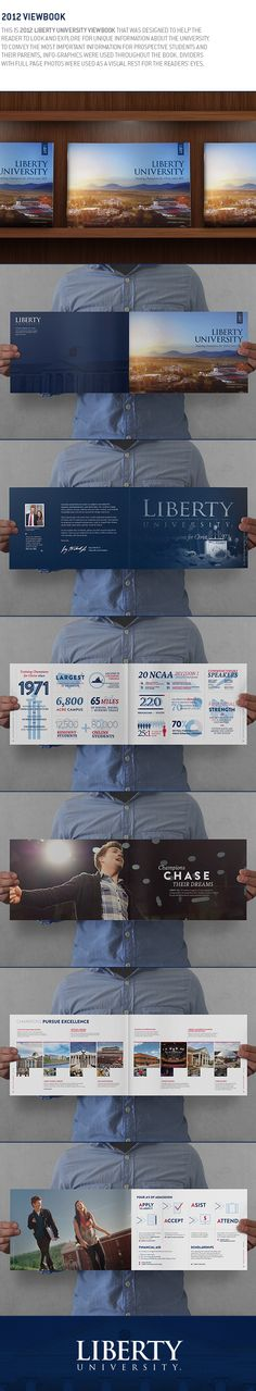 Liberty University 2012 viewbook by Jasung Gu, via Behance