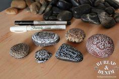 Doodled Prayer Rocks for Camp