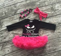 Baby Girls Halloween I'm a Nightmare Dressed as a Daydream Tutu Outfit Set Pink Tutu Dress, Girls Tutu Dresses, Tutu Outfits, Girls Rompers, Toddler Girl Christmas Outfits, Kids Outfits Girls, Toddler Girl Outfits, Toddler Girls, Nightmare Before Christmas Girl