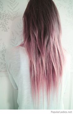 Lovely pastel pink ombre hair