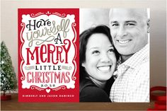 Merry Typography Holiday Photo Cards by Alethea and Ruth at minted.com
