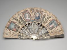Folding fan with portrait medallions of Marie Antoinette and Louis XVI