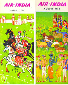 vintage air india timetable design