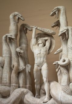 Rudolph Tegner (1873-1950), Hercules and the Hydra, 1918-19, plaster.