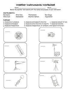 Weather Instruments Printable Worksheets