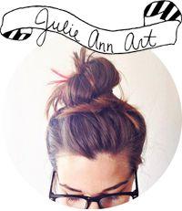 Simple, white-space, web design: Julie Ann Art