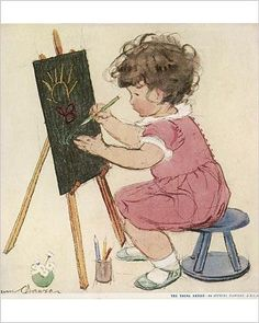 Photographic Print of The Young Artist by Muriel Dawson