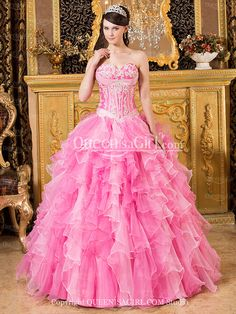 7d411062bb7 Ball Gown Princess Strapless Sweetheart Long   Floor-Length Satin Organza Quinceanera  Dress front back